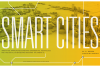 Smart Cities graphic with a rendering of the city of Atlanta.
